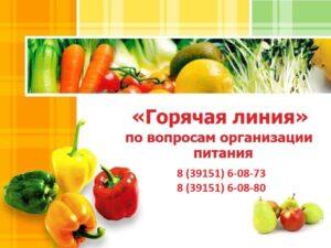 Горячая линия по вопросам организации питания